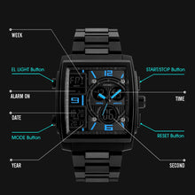 SKMEI Sports Dual Analog & Digital Display Men's / Gents Watch - Water Resistant (50m / 5 Bar), Calendar, Multiple Time Zones