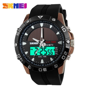 SKMEI Sports / Casual Solar Power Quartz / Digital Watch - Men's / Gents, 50m Water Resistant
