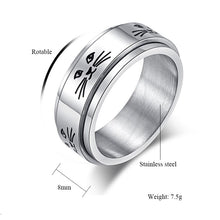 ROMAD Cute, Cat Theme 316L Stainless Steel Spinner / Rotatable Ring - Unisex, Ladies, Men's