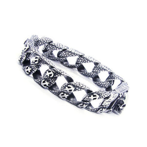 RANY & ROY Trendy / Metal 316L Anchor & Skull Theme Stainless Steel Chain Link Bracelet - Men's / Gents