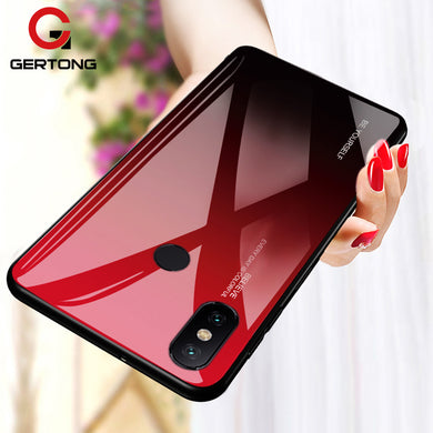 Xiaomi, Stylish Rear Tempered Glass & TPU Gradient Fitted Case (Pocophone, Redmi 6 Pro, Note 5, Note 6 Pro)
