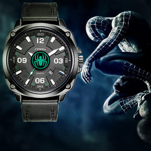 SINOBI Brand Creative Quartz Spider Man Theme Watch - Men's / Gents, Super Hero