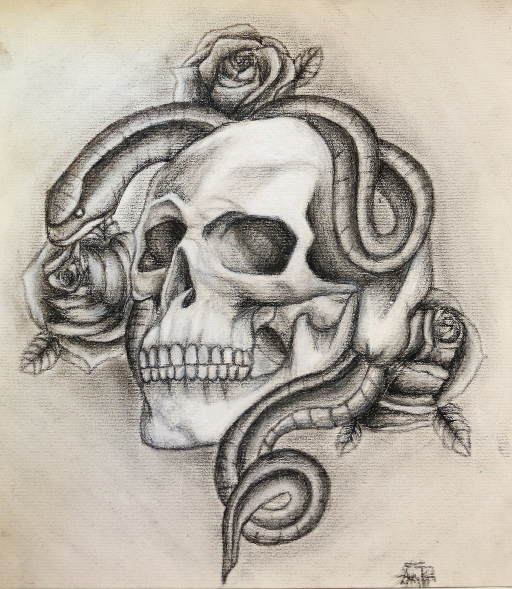 Original Skull Art Piece