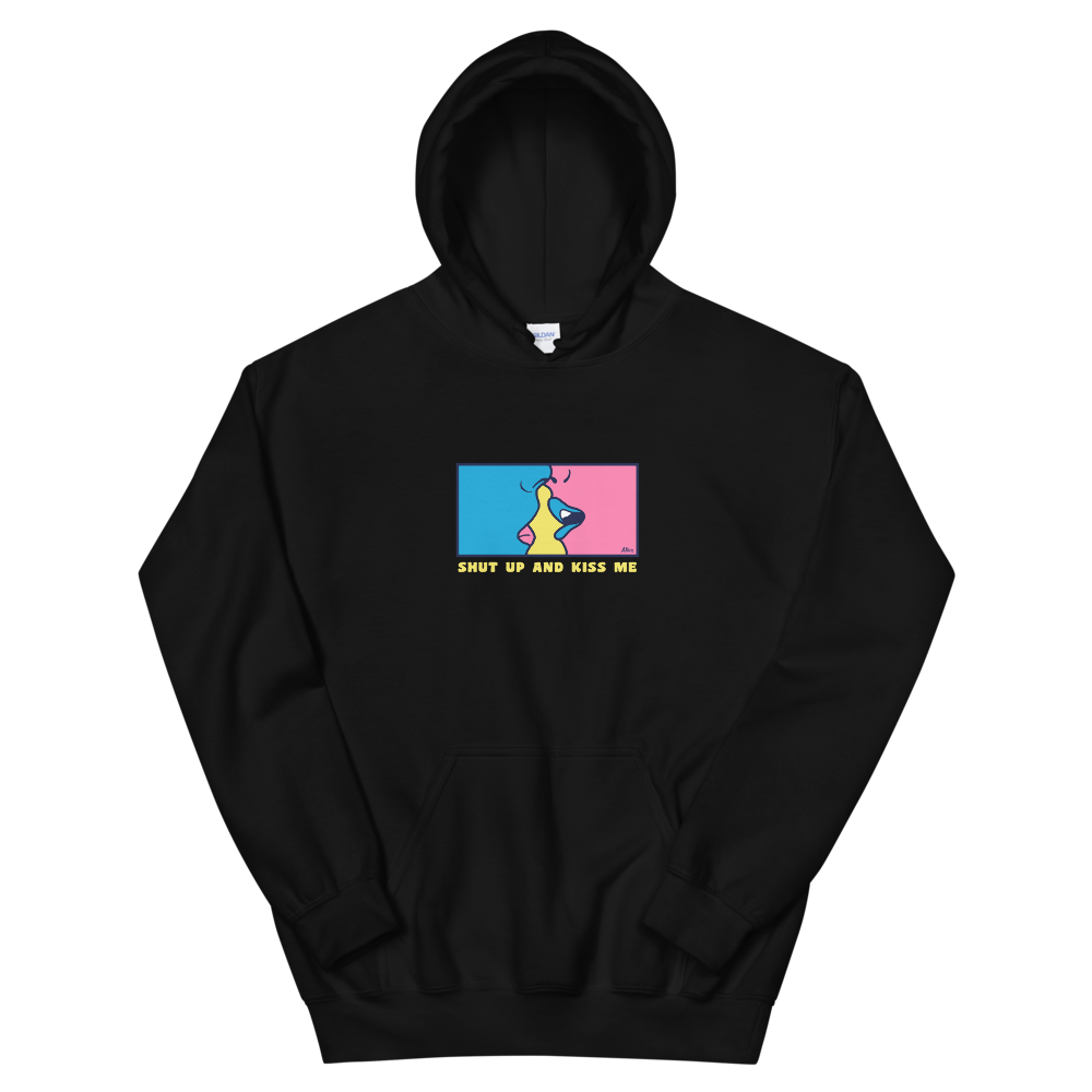 Black Shut Up and Kiss Me Hoodie