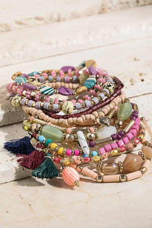 Multi-Color Bracelet Stack