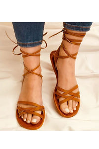 Tan Wrap Sandal