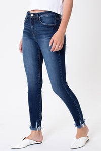 Hannah High Rise Fray Skinny Denim
