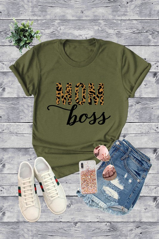 Mom Boss Graphic Tee {MULTIPLE COLORS}