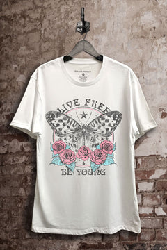 Live Free Be Young Graphic Tee {VIP FINAL SALE}