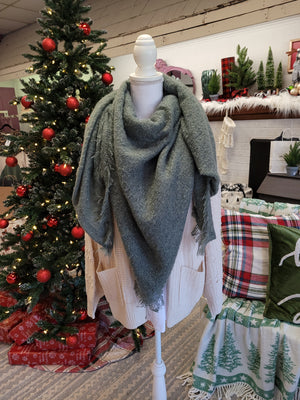 DOORBUSTER Mohair Square Blanket Scarf {MULTIPLE COLORS} FINAL SALE