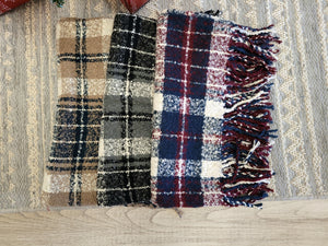 Soft Plaid Infinity Scarf {MULTIPLE COLORS}