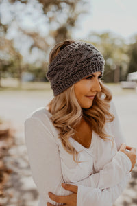 Wide Cable Knit Headband {MULTIPLE COLORS}