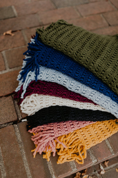 Tassel Infinity Scarf {MULTIPLE COLORS}