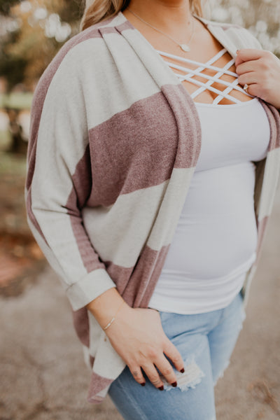 Draping Beauty Striped Cardigan {MULTIPLE COLOR OPTIONS}