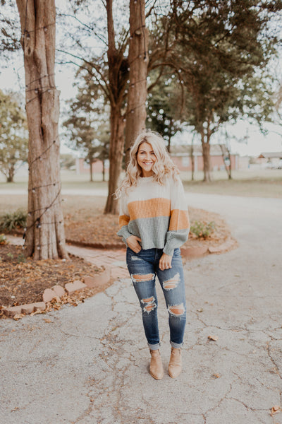 Crisp Mornings Color Block Sweater