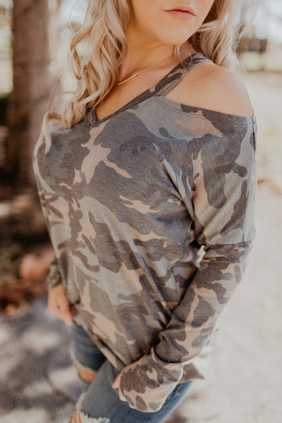 Camo Meets Cute Top
