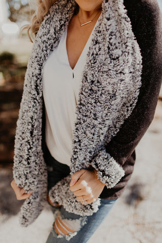 Cozy Nights Sherpa Cardigan {MULTIPLE COLOR OPTIONS}