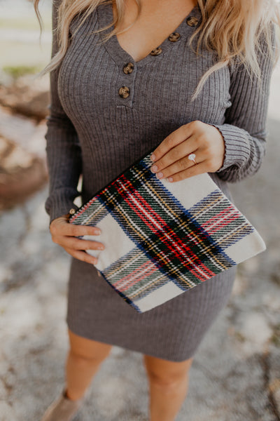 Holiday Plaid Zipper Pouch [MULTIPLE COLORS]