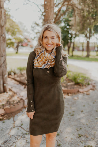 Reversible Plaid Infinity Scarf