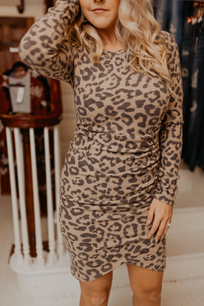 Dangerous Cargo Leopard Knit Dress