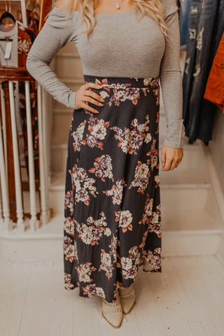 Chasing Love Floral Maxi Skirt