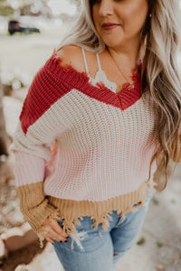 Fall Fun Fringe Hem Sweater