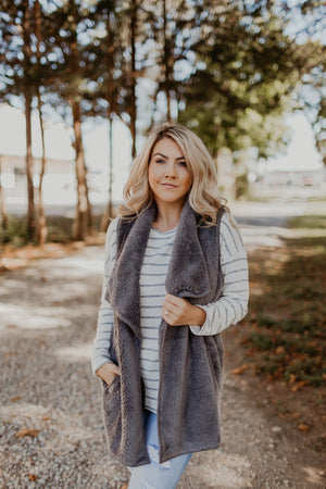 DOORBUSTER Winter Ready Faux Fur Vest {MAUVE ONLY} {FINAL SALE}