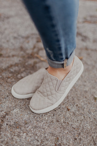 Dove Grey Slip On Sneakers