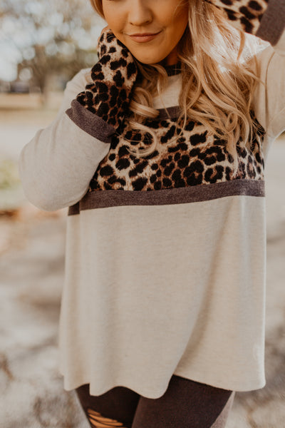 Looking Leopard Top