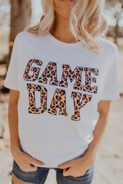 Game Day Leopard Graphic Tee