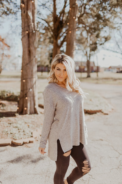 The Marled Sweater Knit V Neck