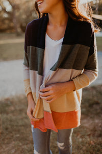 Tween Colorblock Cardigan