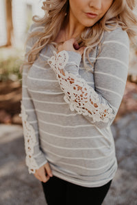 Endless Love Striped Crochet Tunic {MULTIPLE COLOR OPTIONS}