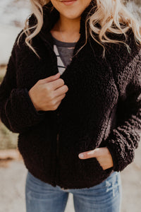 Cozy Zip-Up Sherpa {MULTIPLE COLORS}