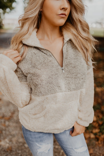 Nap Worthy Sherpa Pullover [MULTIPLE COLORS]