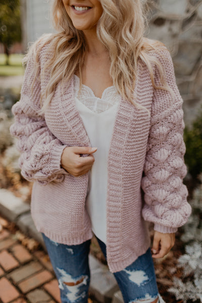 Warm Vibrations Chunky Knit Cardigan [MULTIPLE COLORS]
