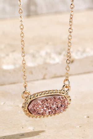 Danielle Druzy Stone Necklace {MULTIPLE COLORS}