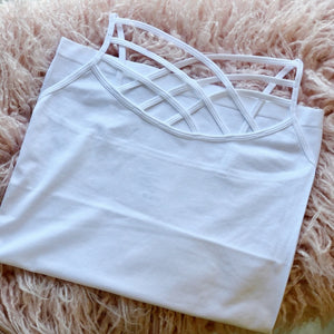 Seamless Criss Cross Cami White {DOORBUSTER}