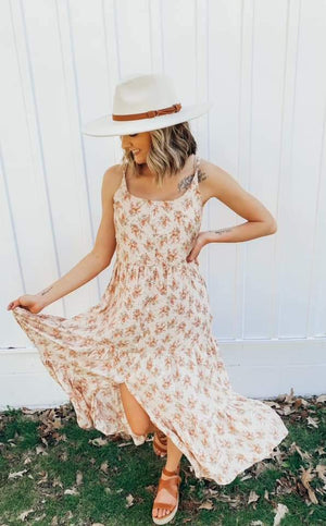 On Replay Floral Midi Dress