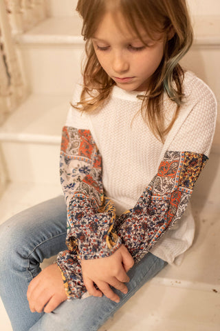 Tween Patchwork Picture Top
