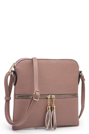 Tassel Zipper Crossbody {MULTIPLE COLORS}