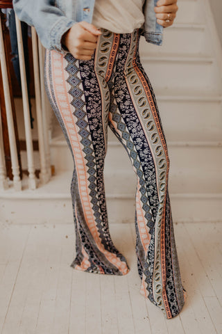 Walk My Way Paisley Bell Bottoms