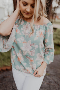 Found Myself Floral Top {MULTIPLE COLORS}