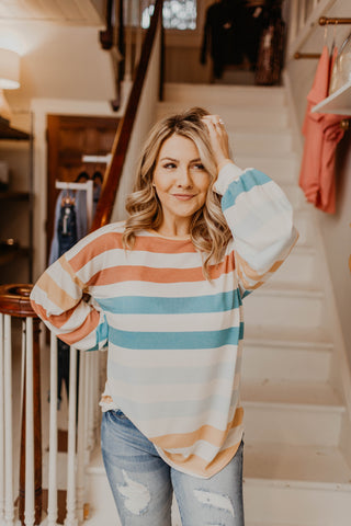 Striped Success Top