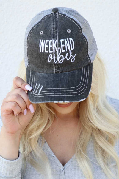 Distressed Graphic Trucker Hat {MULTIPLE OPTIONS}