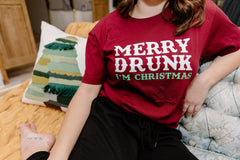 Merry Drunk I'm Christmas Graphic Tee