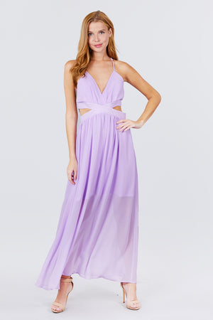 VIP Lilac Chiffon Maxi Dress {FINAL SALE}
