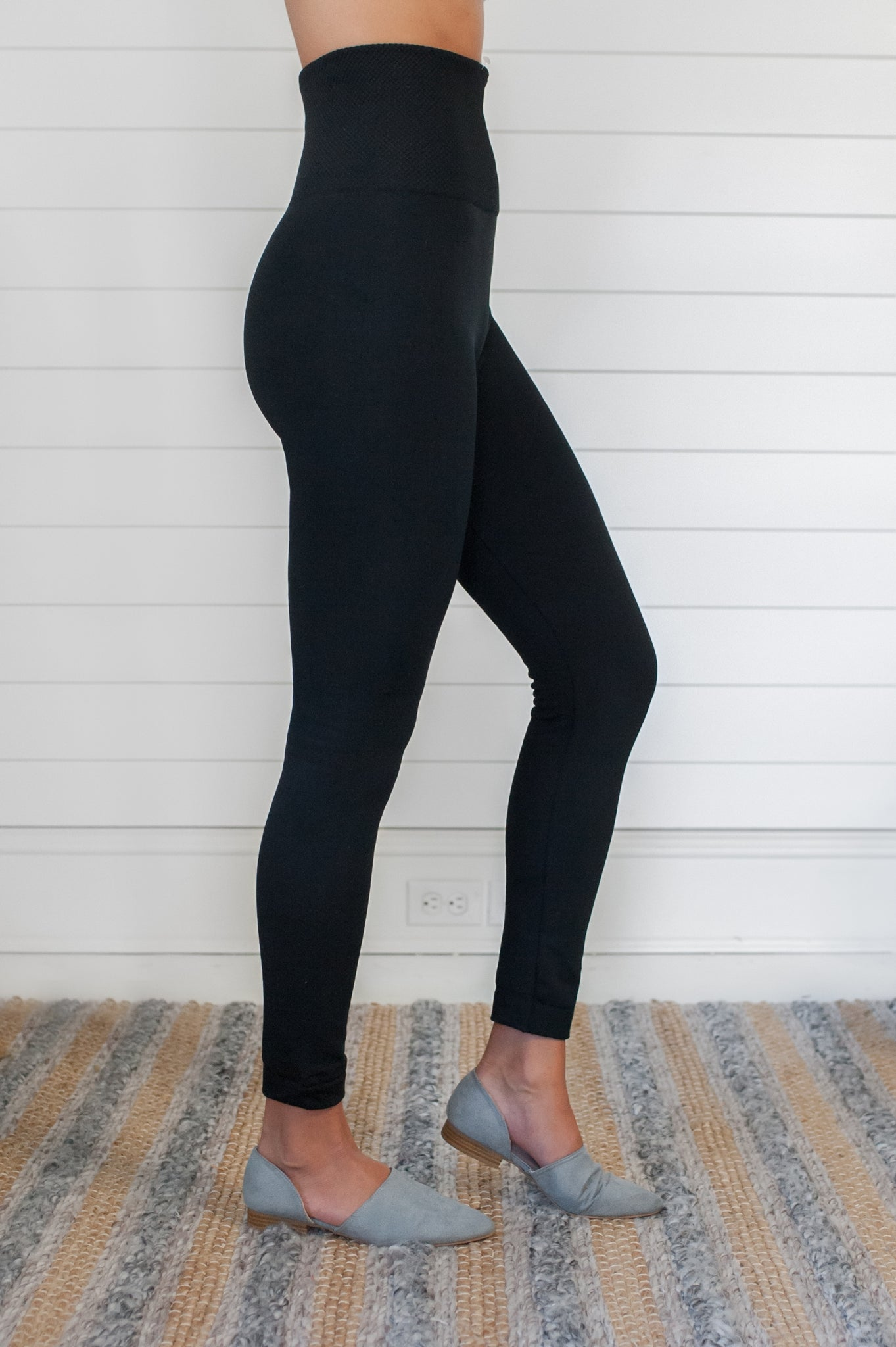 Compression Waist Fleece Leggings