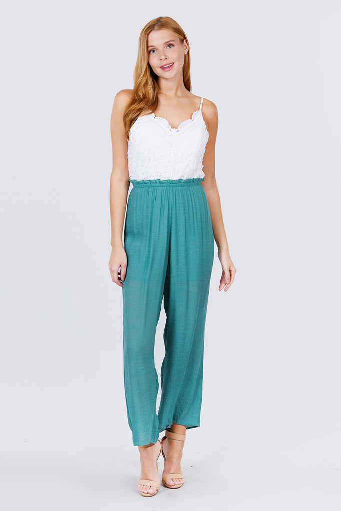 VIP Scallop Lace Jumpsuit {FINAL SALE}