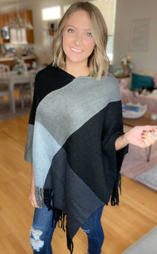 DOORBUSTER From All Angles Poncho {FINAL SALE}